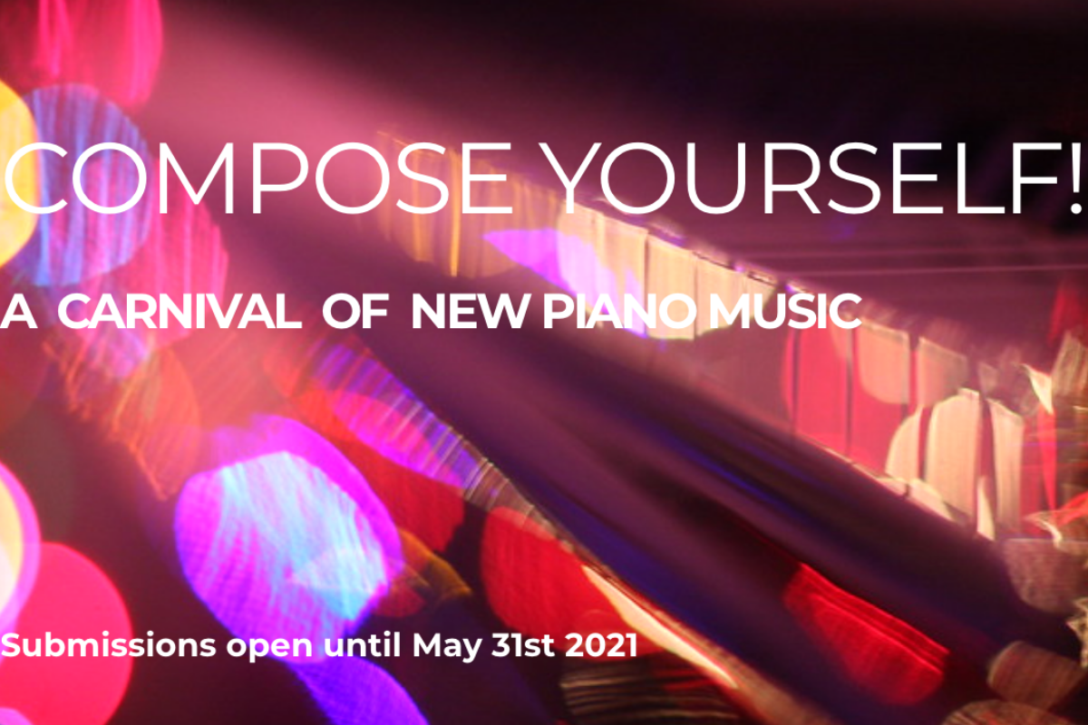 Composition Festival: Compose Yourself! logo and submission deadline of 31st May 2021